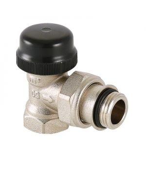Клапан термостатический угловой с преднастройкой