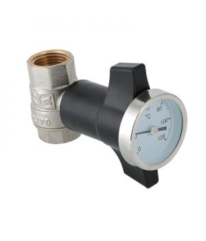Кран шаровой c термометром