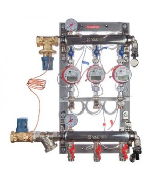 Узел этажный для поквартирного учета тепловой энергии с автоматическим регулятором перепада давлений