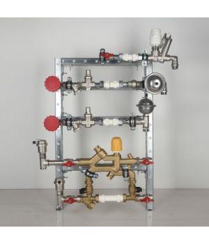 Квартирная станция для систем отопления и водоснабжения с рециркуляцией ГВС
